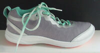Vionic Women's Agile Fyn Walking Shoe Sneaker Gray Green Orange Sz 9.5