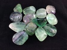 Large Tumbled Fluorite-The Genius Stone,Crystal Healing,Info Card&Bag
