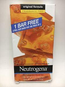 Neutrogena Transparent Facial Bar, Acne-Prone Skin 3.5 oz (3 In Pack) New C38 C