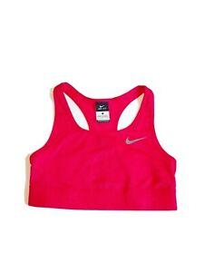 Nike Pro Dri Fit Red Racerback Athletic Sports Bra Women's Size S Poly Spandex