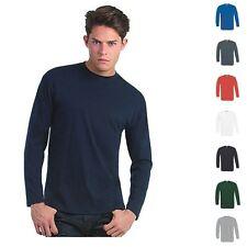 B&C Herren T-Shirt Longsleeve Mann Shirt Langarm Lang Exact 150 LS Größe S-3XL