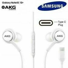 Universal SAMSUNG GALAXY NOTE 10/10+ AKG EARPHONES HEADPHONES USB TYPE C WHITE
