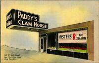 1940S PADDY'S CLAM HOUSE NY CITY POSTCARD.
