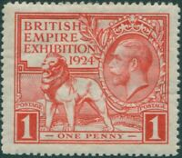Great Britain 1924 SG430 1d scarlet KGV Exhibition MNH