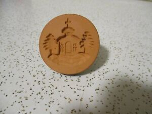 """RYCRAFT 2"""" Round Cookie Stamp with Handle - Christmas Church"""