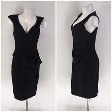 BLACK HALO DRESS Sleeveless Midi V-Neck Sheath 8