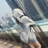 1pc Women Autumn Hoodies Rabbit Ear Pullover Long Sleeves Pockets Winter Sweater