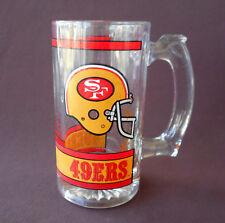 SAN FRANCISCO 49ers Glass MUG STEIN Helmet NFL Heavy