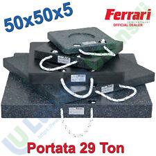 Pedana Piastra Appoggio 50x50x5cm FERRARI Stabilizzatori Gru Piattaforme Camion