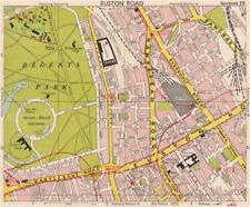 LONDON W1 WC1 NW1 Euston Regent's Park Bloomsbury Fitzrovia. BACON 1959 map