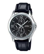 Casio MTP-V301L-1A New Original Analog Multifunction Leather Mens Watch MTP-V301