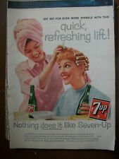 1953 VTG Original Magazine Ad 7 Up Soda Drink A New Hair-Do Can Do Wonders