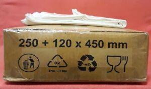 1000 Tragetaschen Plastiktüten - 250 + 120 x 450 mm - Tüten Schlaufentragetasche