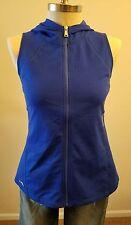 New Ralph Lauren Vest Women Royal Blue Full Zip Hood Soft Size XL THESPOT917