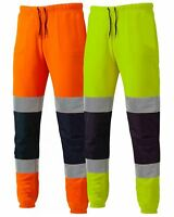 New Mens Comfortable High Visibility Jogging Bottoms Work Trousers Pants