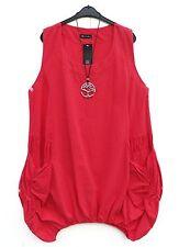 NEU D'celli Kleid Dress Robe Vestido mit 10% Leinen Linen XXL 52 54 Lagenlook *
