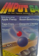 INPUT Commodore 64 C 64 Cassette 7/86 1986 (Tape) (Game, Verpackung, Anleitung)