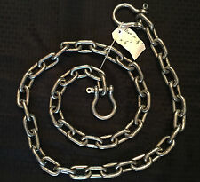 "Stainless Steel 316 Anchor Chain 10mm or 3/8"" by 15' long with quality shackles"