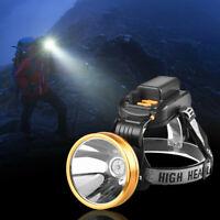 LED T6 Headlight Headlamp Head Torch 4 x18650 Fishing Work Light Camping Lamp