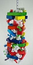 Blocks N Knots Med - African Grey Quaker Mini Macaw Sm Amazon Parrot Bird Toy