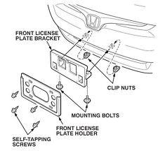 2003-2005 Genuine Honda Accord Sedan Front License Plate Bracket Kit OEM! NEW!