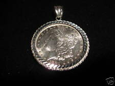 Morgan or Eisenhower Dollar Holder and Pendant in Sterling Silver