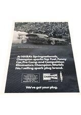 1974 Funny Car Eliminator Gene Snow Race Vintage Advertisement Car Print Ad J414