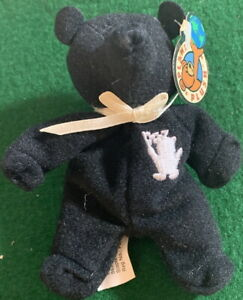 "PLANET PLUSH ""OTTO"" Detroit 4.5"" Mini Bear by Sally Winey Bean Bag Plush Toy NEW"