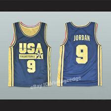 1992 Jordan #9 USA Dream Team Basketball Jerseys Golden Limited Edition