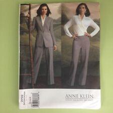 Uncut Vogue 2759 Misses Anne Klein Jacket Top Shirt Pants 12 14 16 Mock Wrap