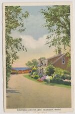 USA postcard - Whistling Oyster Lane, Ogunquit, Maine