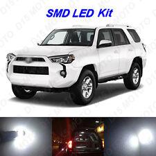 16 x White LED interior Bulbs + Reverse Lights Kit for 2003-2016 Toyota 4Runner