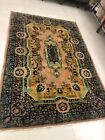 Vintage Hand Knotted Indian Rug 6x9ft