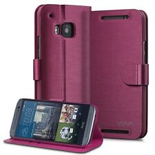 Vena for HTC One M9 Vintage Leather Wallet Folding Case Cover Card Slot Stand