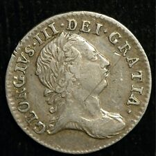 More details for threepence george iii 1763 vf .925 genuine (t112)