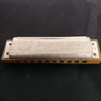 Vintage Harmonica M. Hohner Silver Gray Made In Germany Marine Band Antique 1871