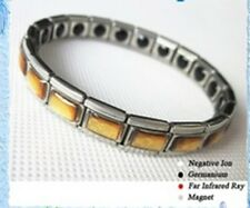 Bracelet-Anion Energy 20 Germanium 20 Infared Stones Hologram stainless Steel