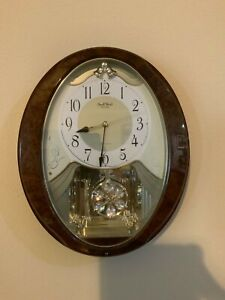 """MUSICAL WALL CLOCK """"SMALL WORLD"""". Rhythm Hourly Sound - 6 Sounds. EXCELLENT"""