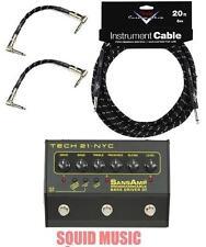 Tech 21 SansAmp Programmable Bass Driver DI (20FT FENDER CABLE & 2 PATCH CABLES)