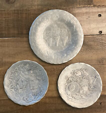 Three Aluminum Hand Hammered Plates The Forge at Mackinaw Mi