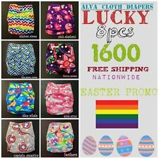 Lucky 8pcs Alva Cloth Diapers