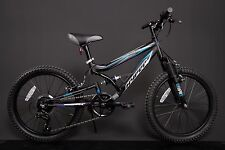"20"" ZOLL MTB Shimano Fully FAHRRAD MOUNTAINBIKE Dirt Bike schwarz KINDERFAHRRAD"