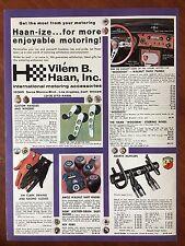 Vintage 1970 Original Print Ad VILEM HAAN Sports Car Accessories - Porsche-Fiat