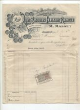 N°10626 / facture  des biscuits felix de razout M.Masset AVALLON   1917