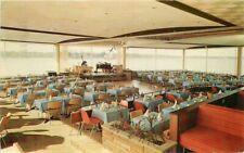 Detroit Michigan 1957 Roostertail Dining Hall Postcard Interior Dexter 8898