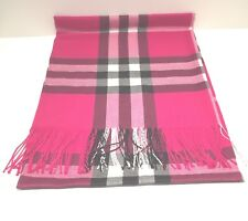 New Pashmina Scarf Shawl Veil Hot Pink Quality Wrap Woman Men Plaid Accessory