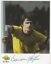 Autographed Editions 10 x 8 inch photo personally signed by Pat Rice of Arsenal.