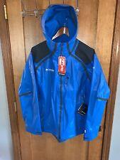 NWT Columbia Titanium Mens OutDry Media Jacket Waterproof - Blue - Medium - $400