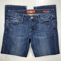 Lucky Brand Jeans Sweet N Crop Womens 6/28 Cropped Blue Denim Stretch
