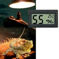 Digital Meter LCD Temperature Humidity Thermometer Hygrometer Vivarium Reptile H
